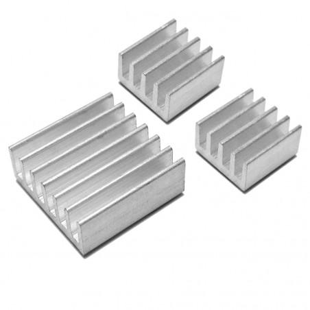 Pure Aluminium Heat sinks for Raspberry Pi 3 Model A/A+/B/B+