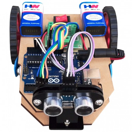 Arduino Ultrasonic Obstacle avoiding Robot with Project Report – Ready Robot with Code