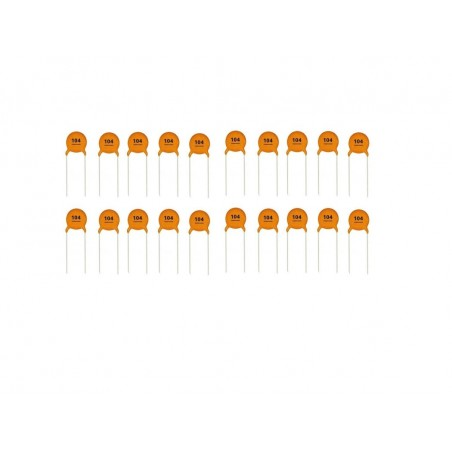 Low Voltage Ceramic Disc Capacitors, 20 Pieces, 0.1Uf 100Nf 104 50V