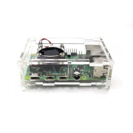 Raspberry pi 4 case Model B Acrylic case with Fan + heatsink